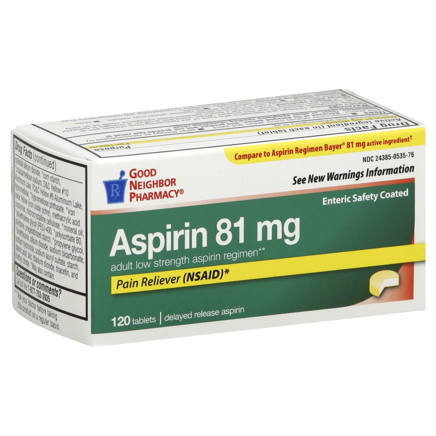 Good Neighbor Pharmacy Aspirin Adult Low Strength Tablets - 81mg
