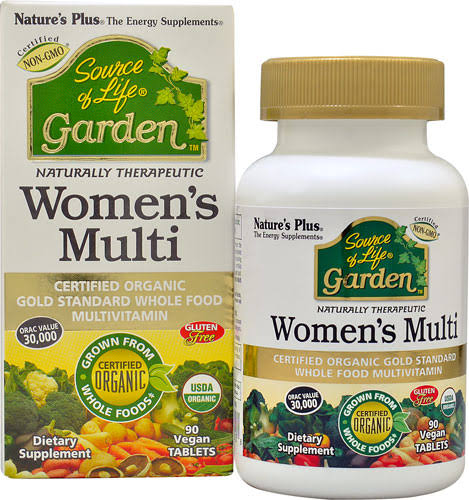 Source of Life Garden Organic Womens Multi Nature's Plus Dietary Supplement - 90ct