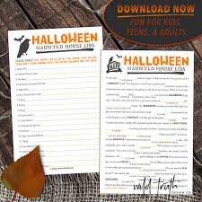 Haunted Halloween Crossword by Halloween Mad Libs