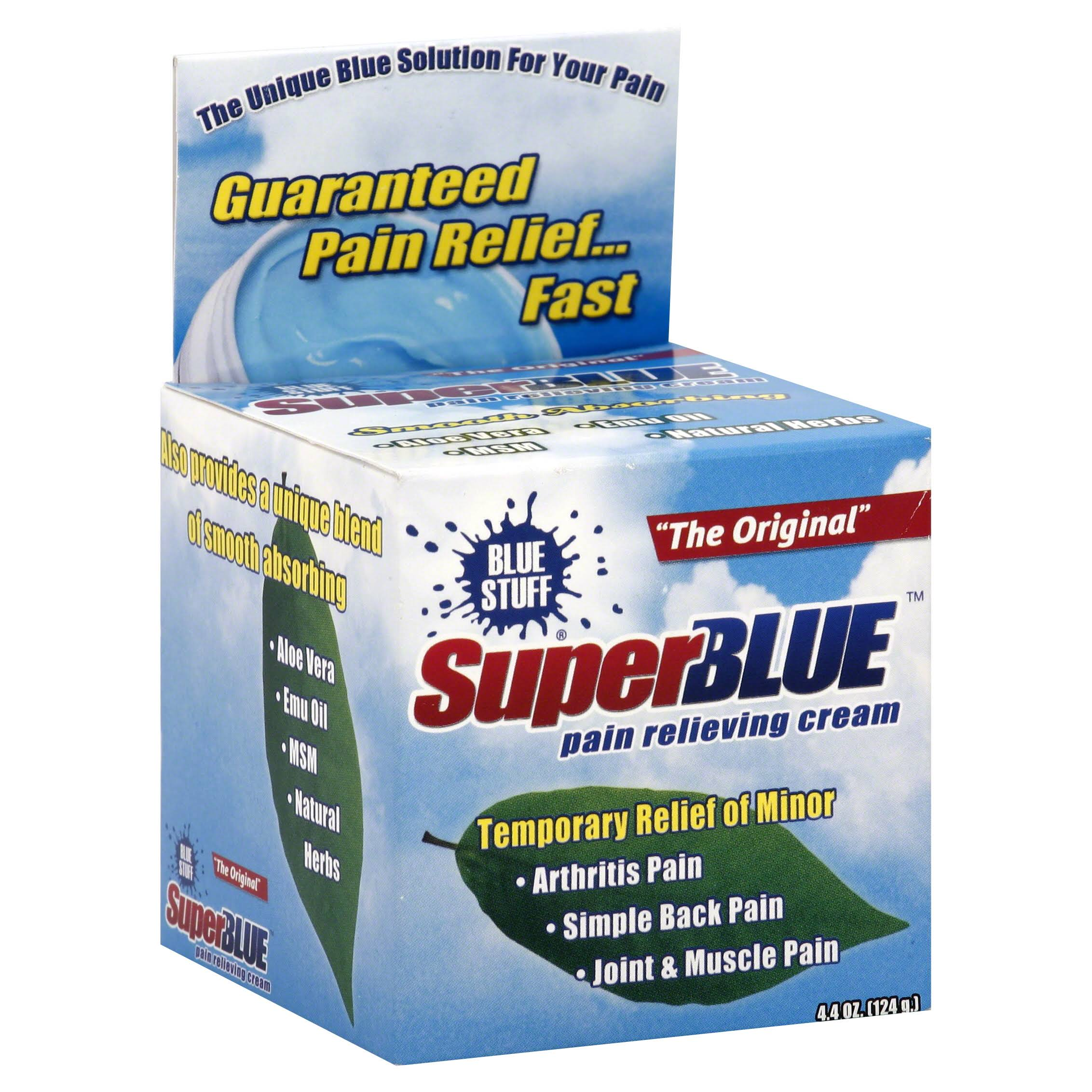Super Blue Stuff OTC Pain Relief Cream - 4.4oz