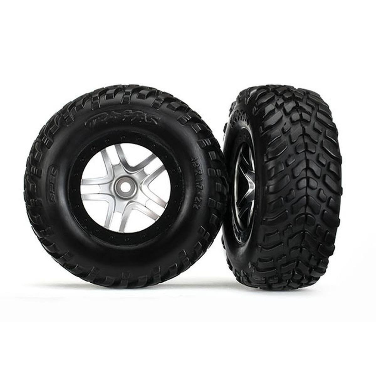 Traxxas 4WD/2WD Mounted SCT Tires & DP Wheels Black TRA6892R