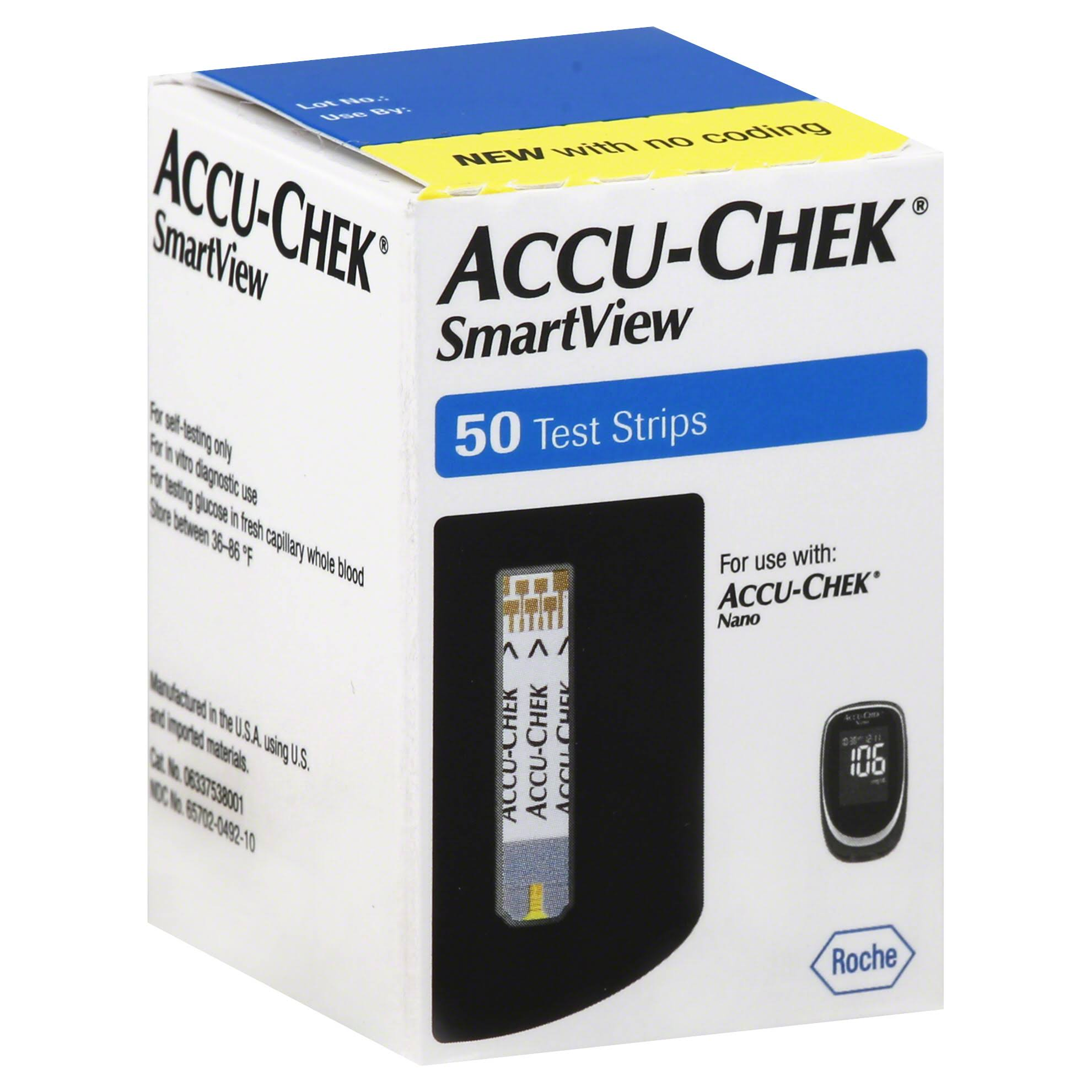 Accu-Chek SmartView Test Strips - x50