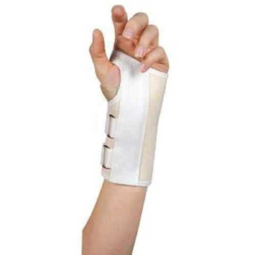 Leader Carpal Tunnel Wrist Support White Small - 1 EA