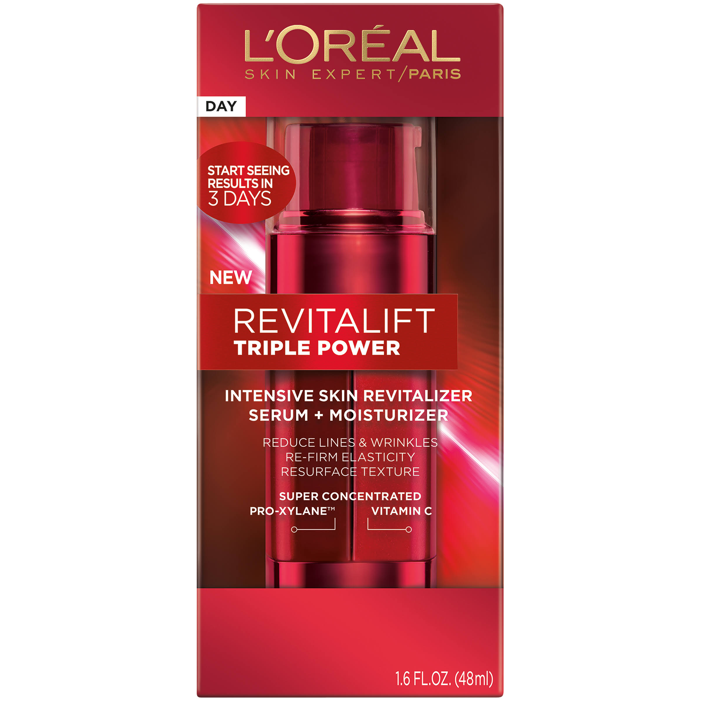 L'Oreal Paris Revitalift Triple Power Intensive Skin Revitalizer Serum & Moisturizer - 1.6 fl oz tube