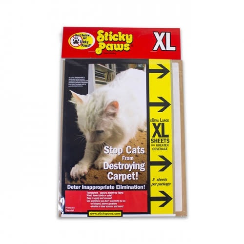 Sticky Paws Scratch Control Strips - XL, 5 sheets