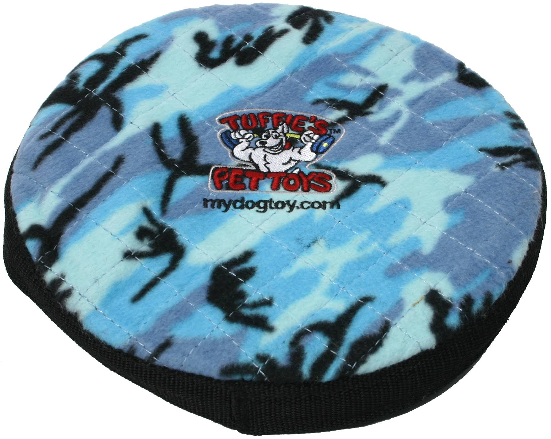 Tuffy's Sport Flyer Dog Toy - Blue Camo Print