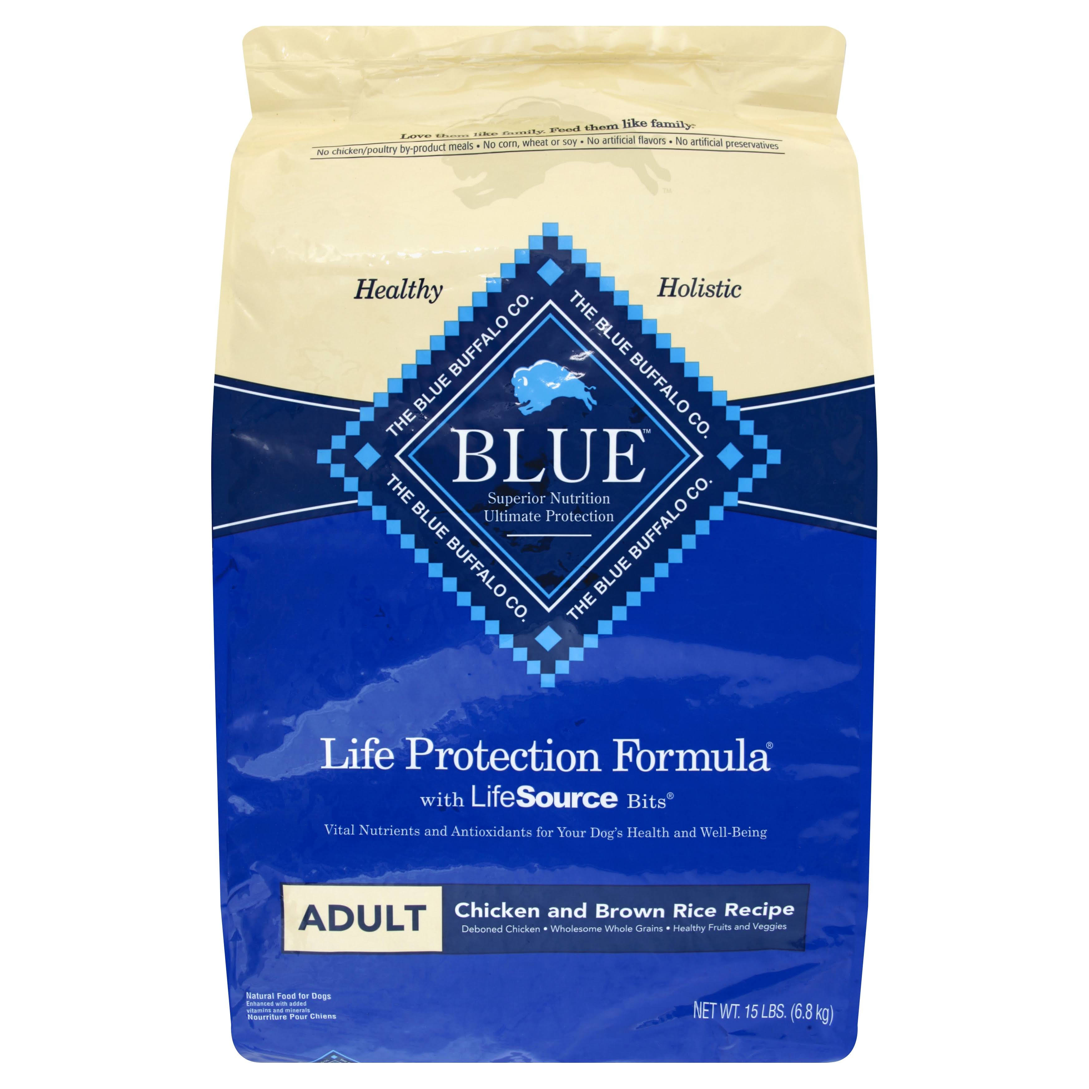 Blue Buffalo Life Protection Dog Food - Chicken and Brown Rice, Adult, Dry, 15lb