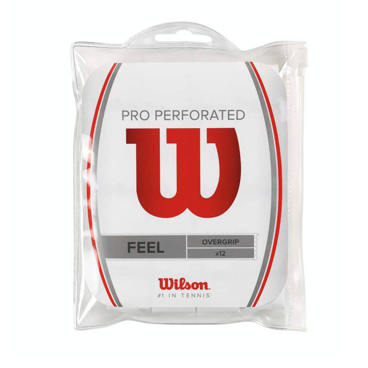 Wilson Perforated Pro Overgrip - White, 12pk