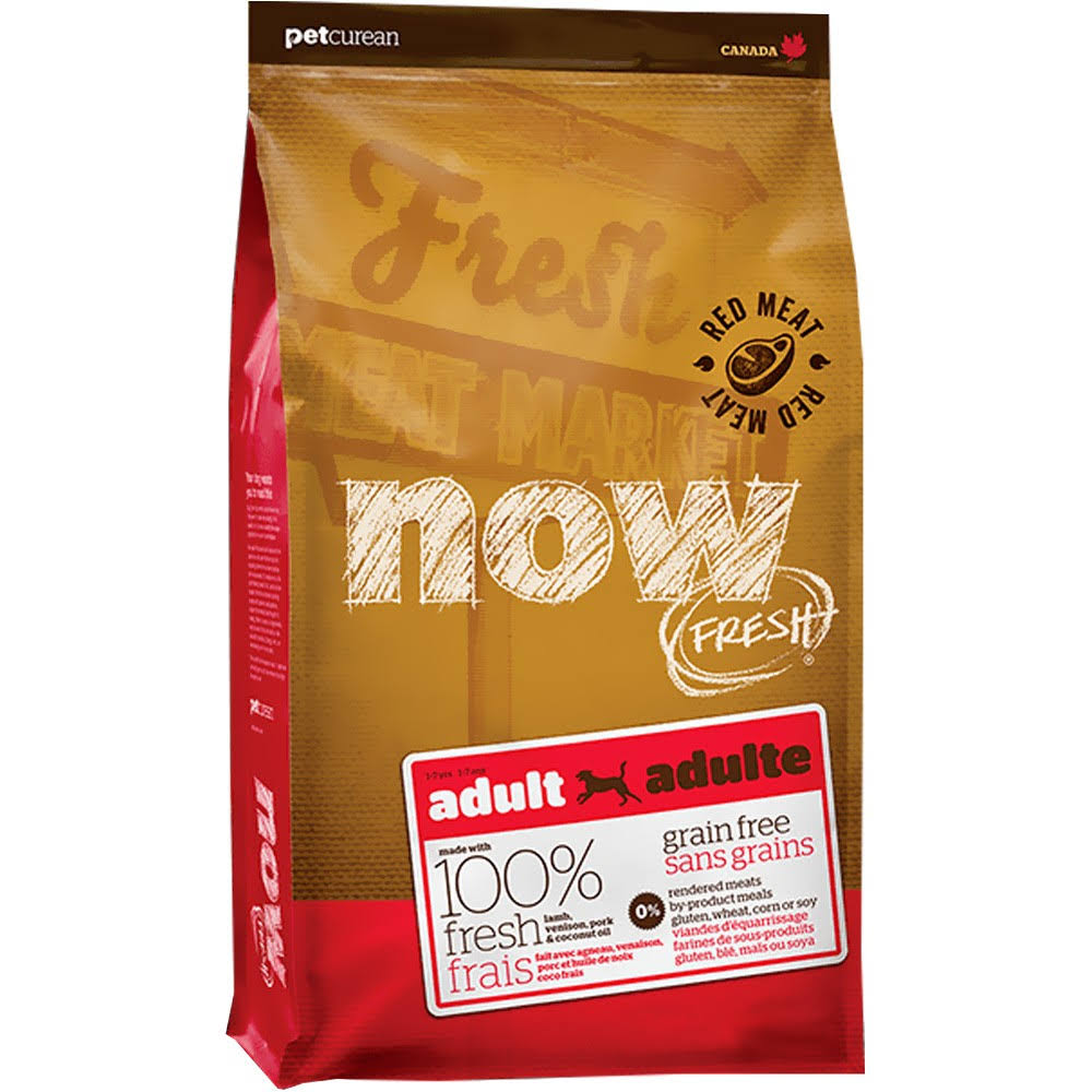 Now Fresh Dog Food - Adult, Grain Free, Red Meat, 11.34kg