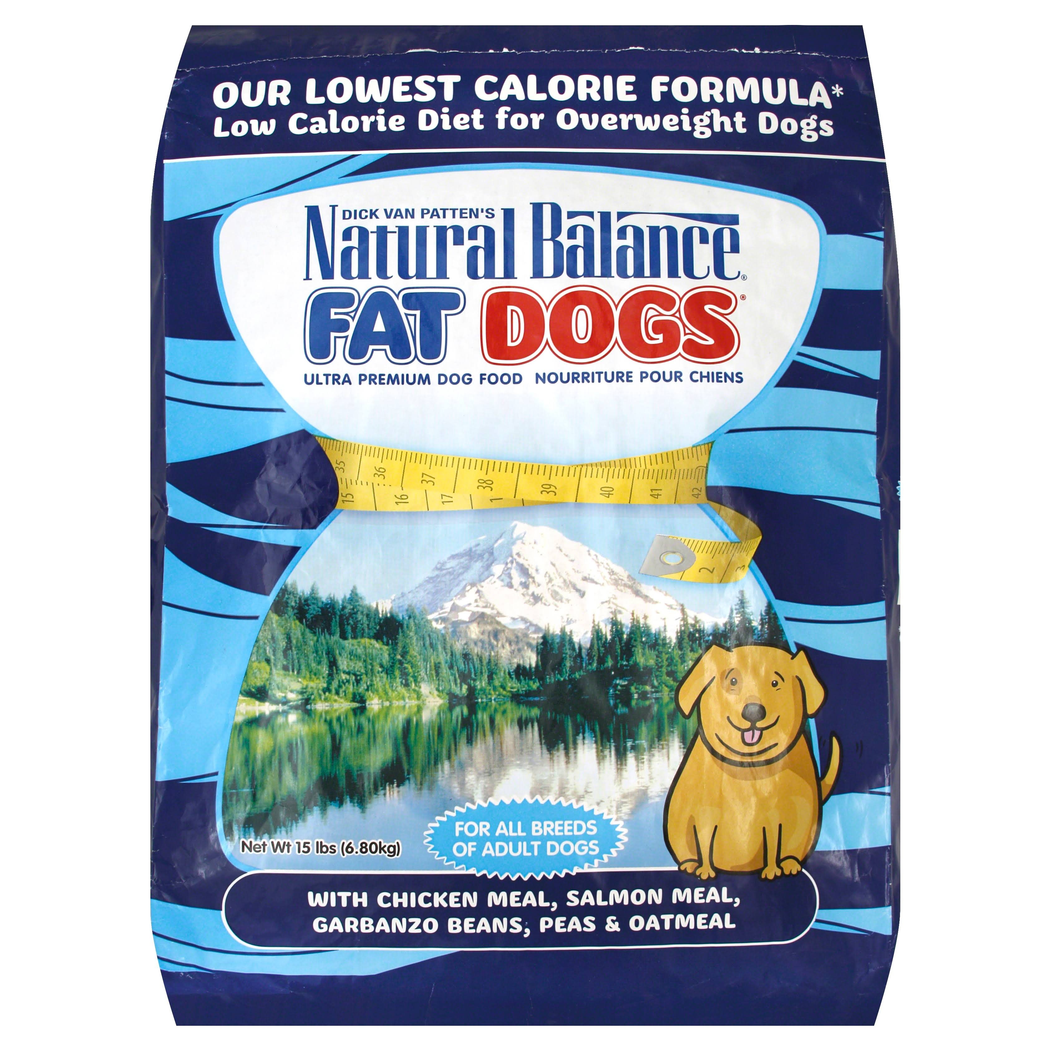 Natural Balance Fat Dogs Chicken and Salmon Formula Low Calorie Dry Dog Food - 15lb