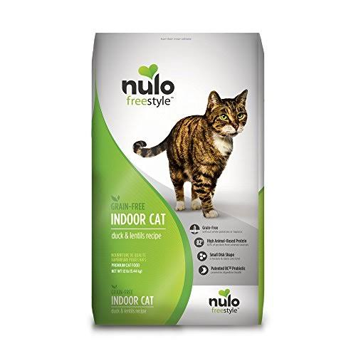 Nulo FreeStyle Grain Free Duck and Lentils Indoor Adult Dry Cat Food - 12lb