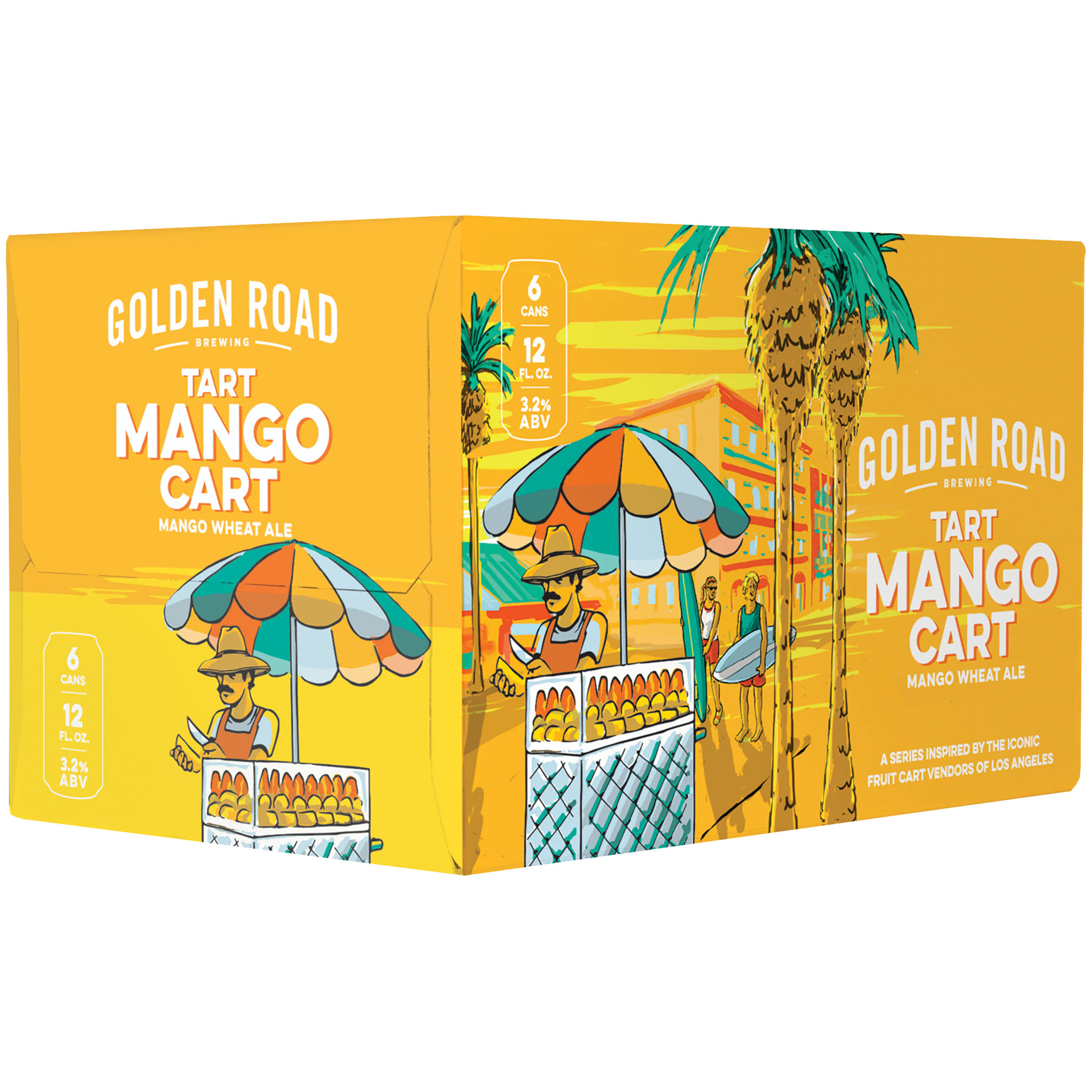 Golden Road Mango Cart Tart Wheat Ale 6 Pack Cans