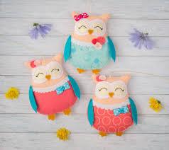 Coral Colored Decorative Items by Cute Animals Nursery Decor Stuffed Owls Nursery Mobile Aqua