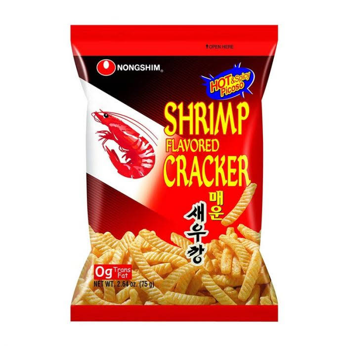 Nongshim Cracker - Shrimp Flavoured, Hot and Spicy, 75g