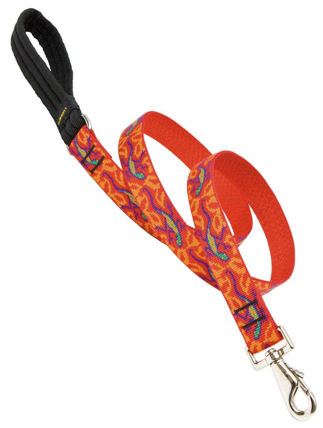 "Lupine Go Go Gecko Design Dog Lead - 1"" X 6'"