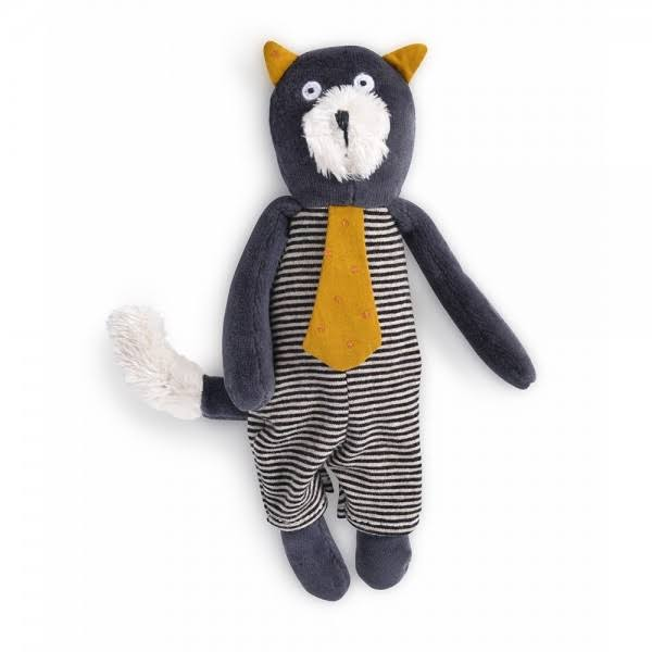 Moulin Roty Small Soft Toy - Alphonse The Grey Cat Les Moustaches