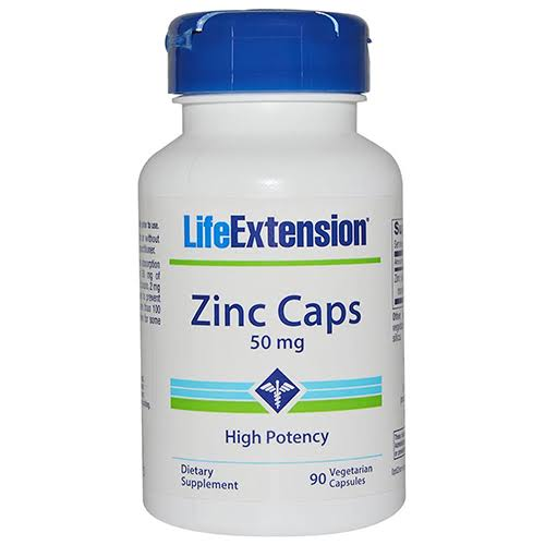 Life Extension Zinc Caps - 50mg, 90 Capsules