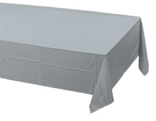 Creative Converting 193345 Shimmering Silver- Silver Paper Tablecover