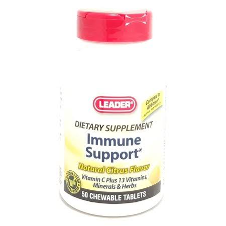 Leader Immune Support Chewable Tablets - Natural Citrus, x50