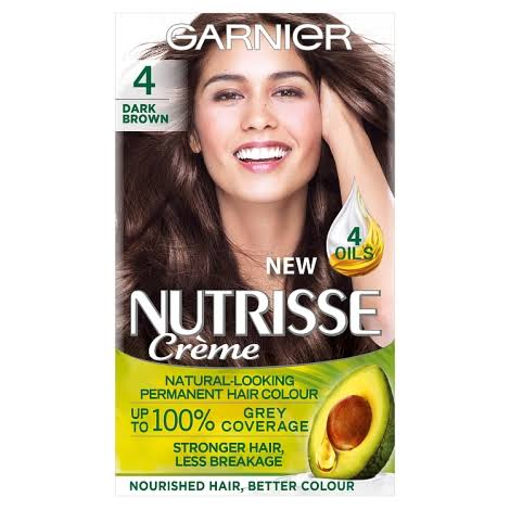 Garnier Nutrisse Permanent Hair Dye - 4 Dark Brown
