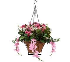 Bethlehem Lights Christmas Trees Qvc by Bethlehem Lights Prelit Wisteria Hanging Basket With Timer Page