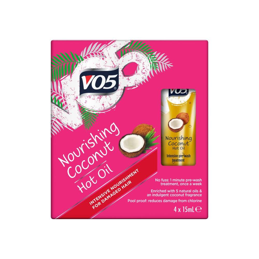 Vo5 Nourishing Coconut Hot Oil - 4 x 15ml