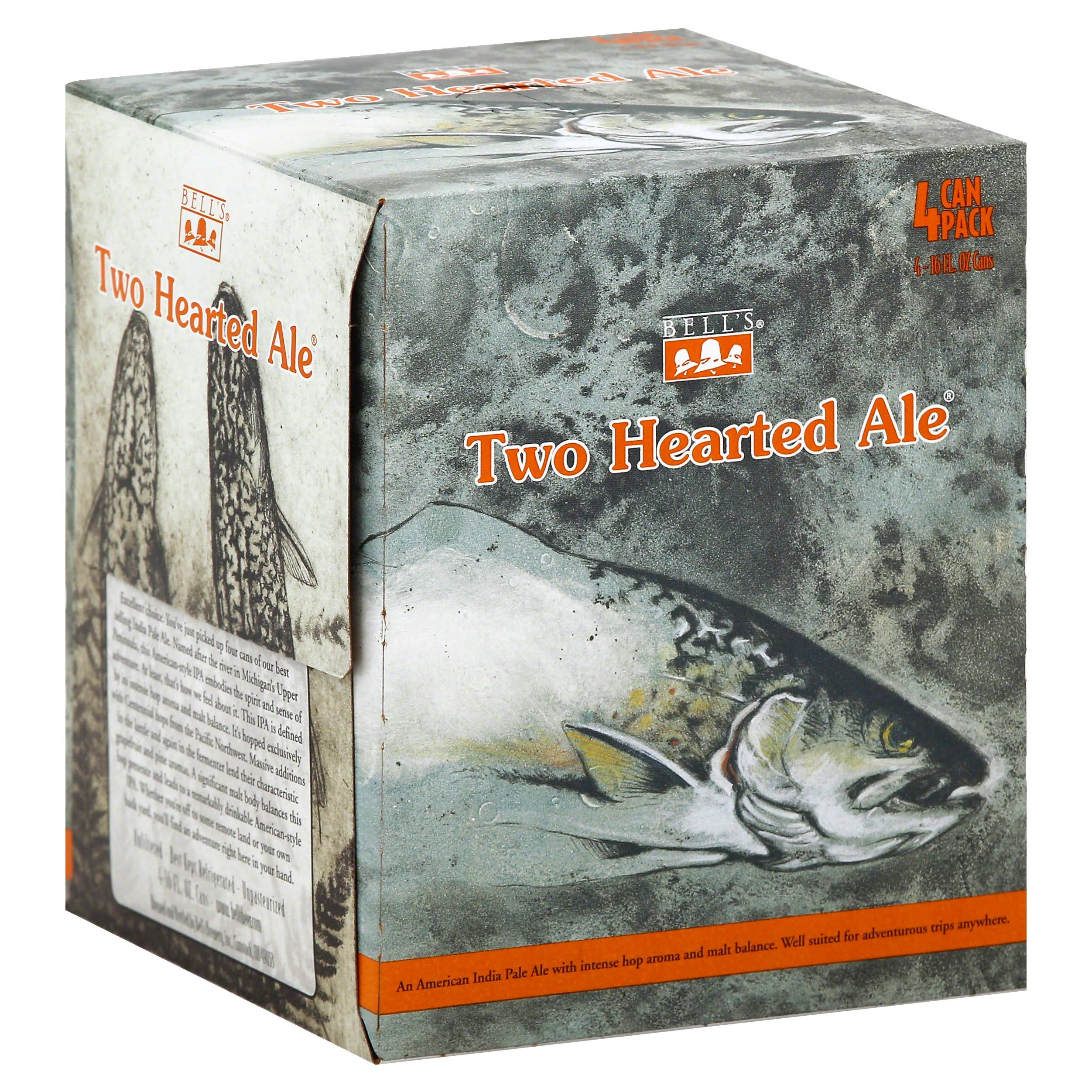 Bell's Two Hearted Ale - 4 pack, 16 fl oz cans