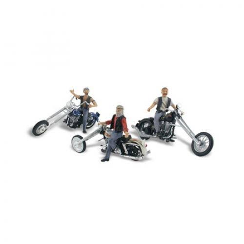 Woodland Scenics Bad Boy Bikers Figures - HO Scale
