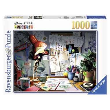 Ravensburger Disney Pixar The Artist's Desk - 1000 Pieces