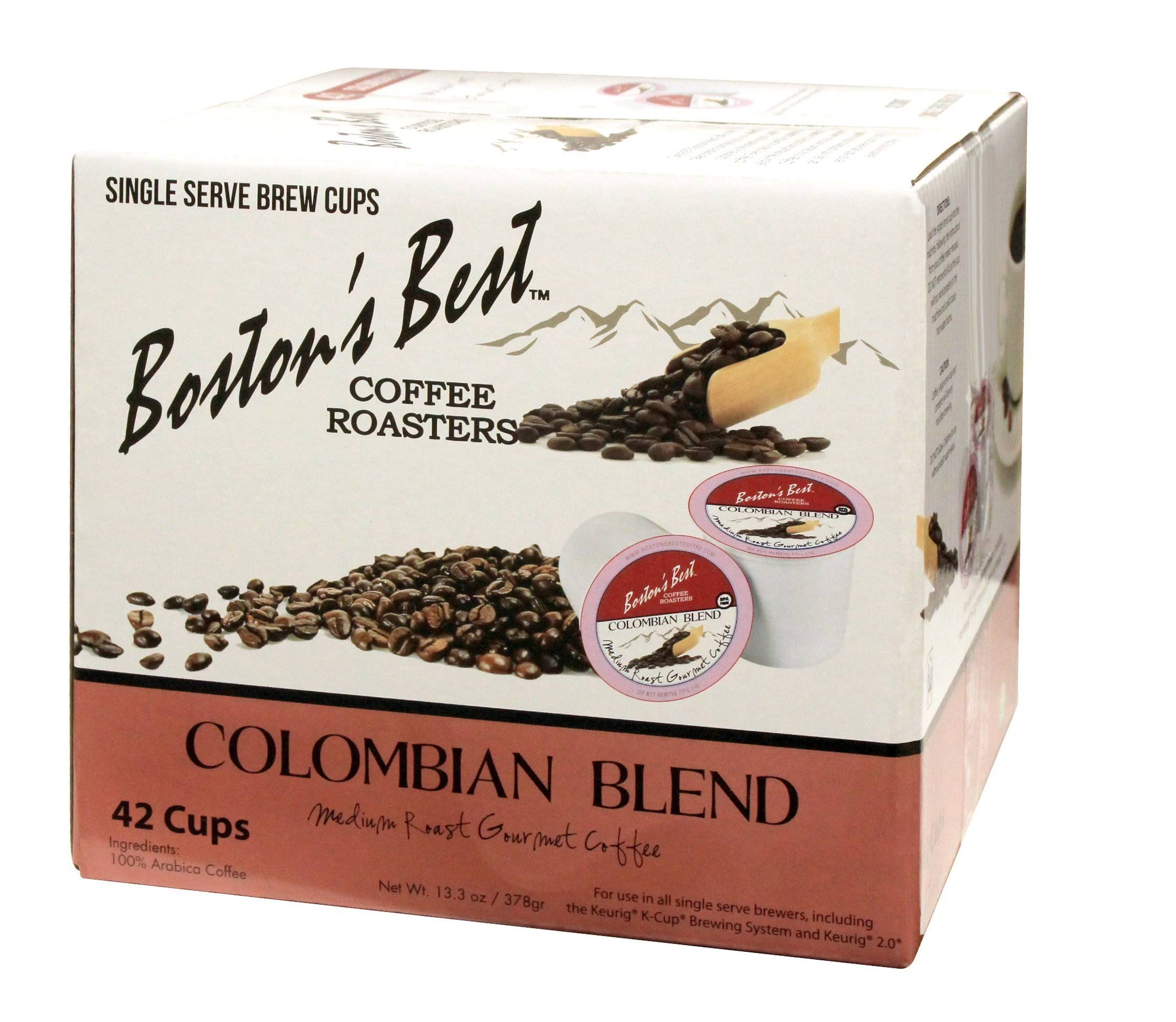 Boston's Best Colombian Blend Coffee, Single Serve Cups, 42 ct