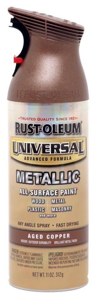 Rustoleum Universal Metallic Spray Paint - Aged Copper, 11oz