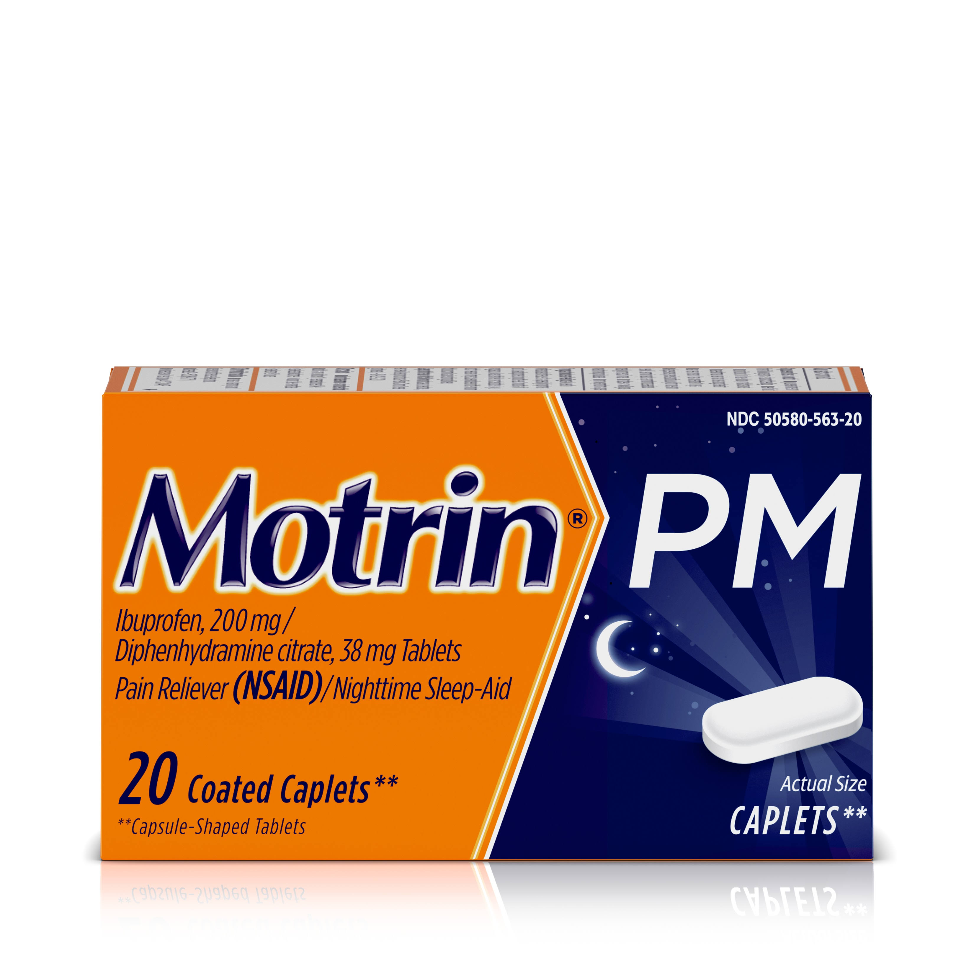 Motrin PM Pain Reliever Nighttime Sleep-Aid - 20 Coated Caplets