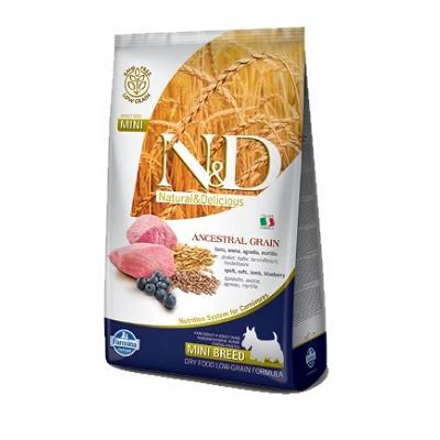 Farmina N&D Natural & Delicious Low Grain Mini Adult Lamb & Blueberry Dry Dog Food, 15.4 lb