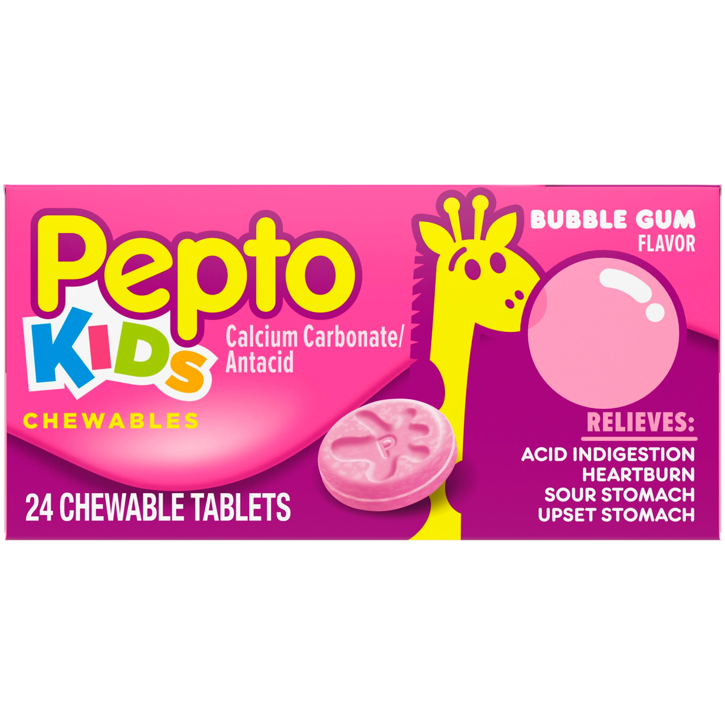 Children's Pepto Upset & Sour Stomach Medicine - Bubblegum Flavor Relief 24 count