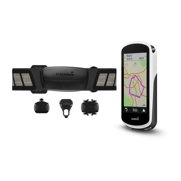 Garmin Edge 1030 Cycle GPS Computer (Bundle (with Chest HRM, Speed & Cadence Sensor))
