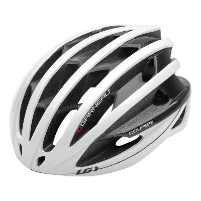 Louis Garneau Course Bike Helmet - White/Red, Small