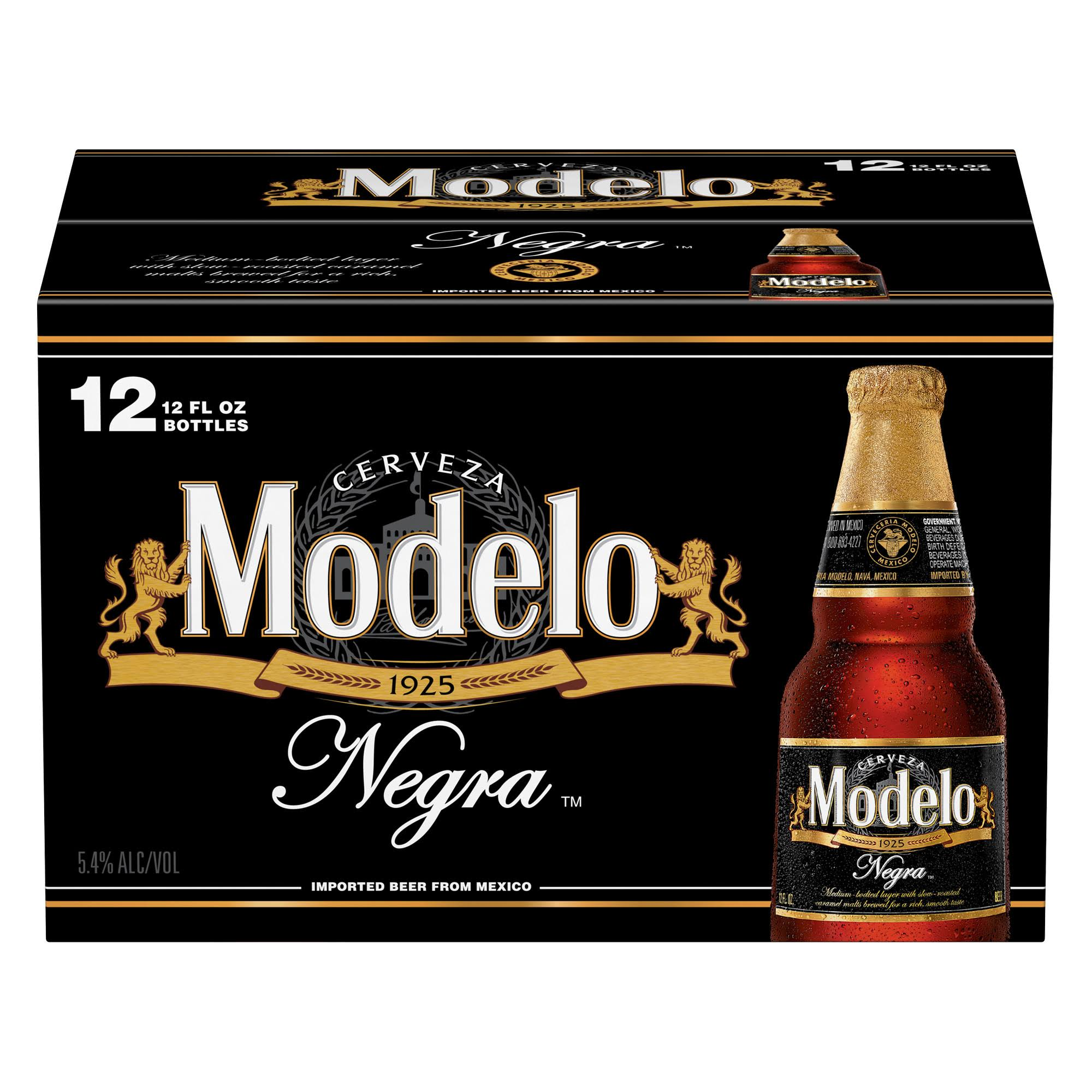 Modelo Beer, Negra - 12 pack, 12 fl oz bottles