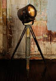 Surveyor Floor Lamp Tripod by Floor Lamp From Vintage Theater Light And Tripod For The Home