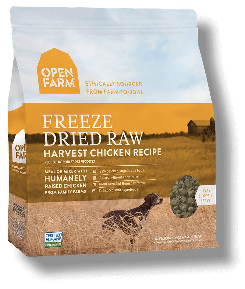 Open Farm Freeze Dried Raw Dog Food - Harvest Chicken Recipe, 13.5oz