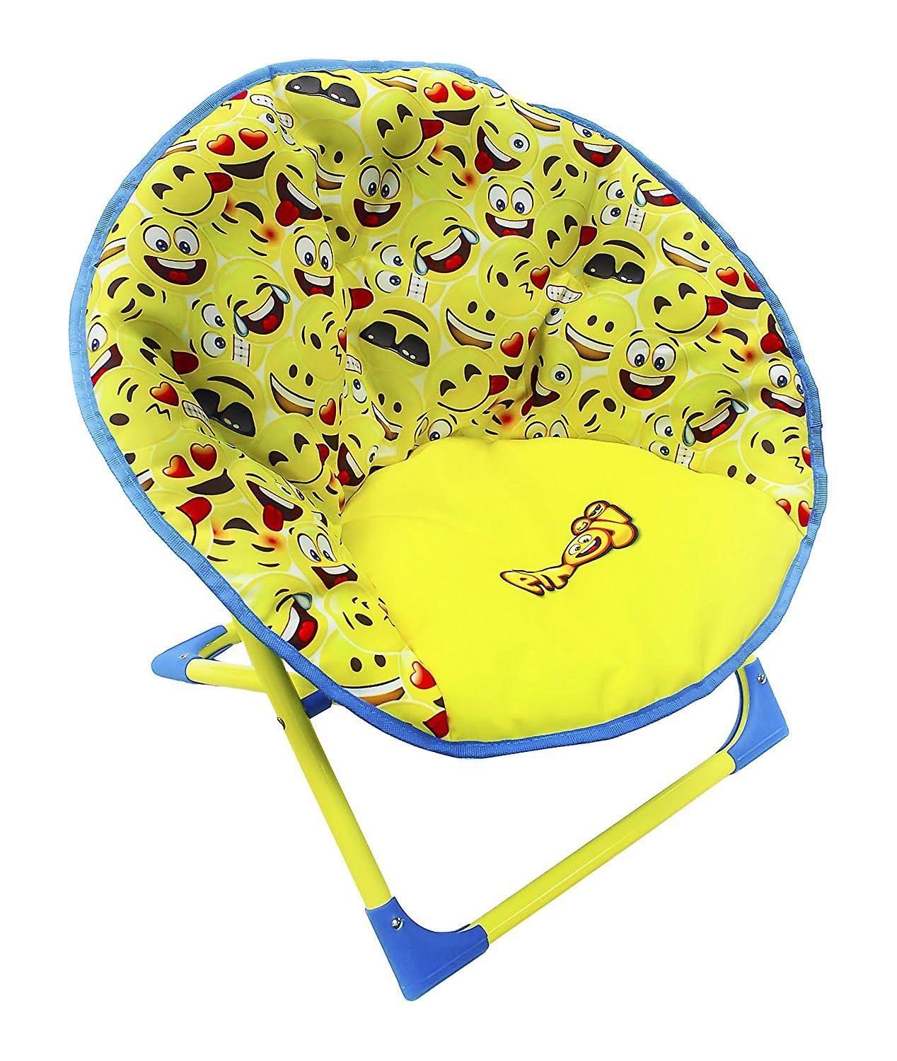HGL 13132 Fun Folding Kids Chair - Emoji Moon