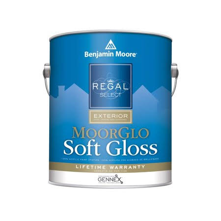 Benjamin Moore Regal Select MoorGlo Soft Gloss Finish Soft Gloss (W096) Gallon / White