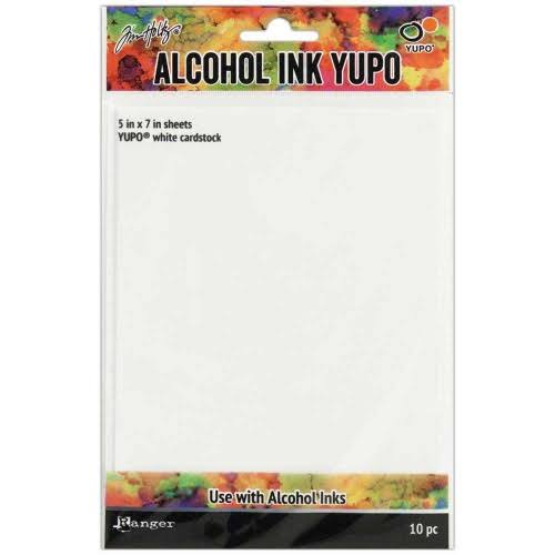 "Ranger THoltz Alcohol Ink Yupo Paper - White, 5"" x 7"", 10 Sheets"