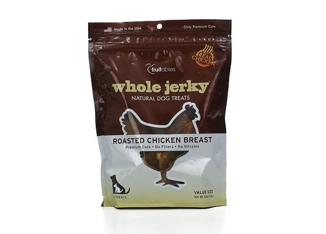 Fruitables Whole Jerky Strips Roasted Chicken Breast 12 oz