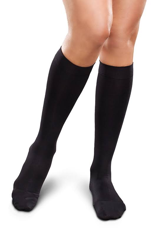 Therafirm Ease Opaque Women's 15-20 mmHg Knee High Large Short / Black