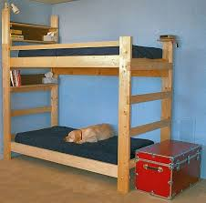 Wood Bunk Beds Plans by Bedroom Design How To Make Double Bunk Bed How To Build A Bunk