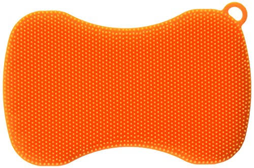 Kuhn Rikon Stay Clean Silicone Scrubber - Orange