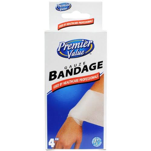 Premier Value Gauze Bandage 4 inch - 1ct