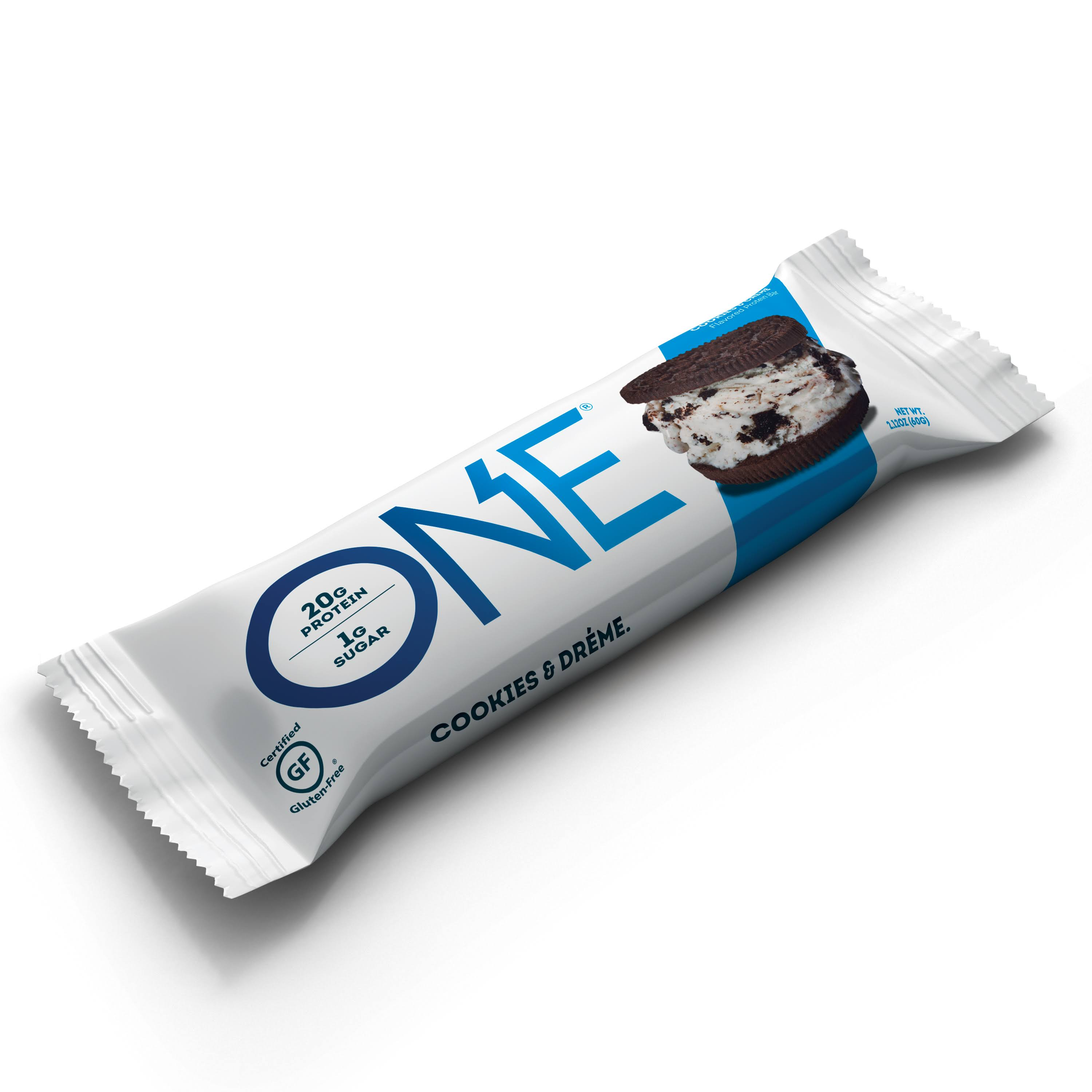 One Protein Bar, Cookies & Creme - 12 pack, 2.12 oz bars