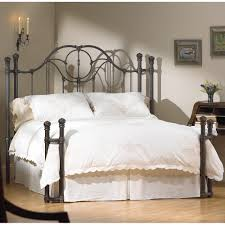 The Fenton Headboard From Sleepys by Kenwick Open Toe Return Post Iron Bed By Wesley Allen Aged Steel