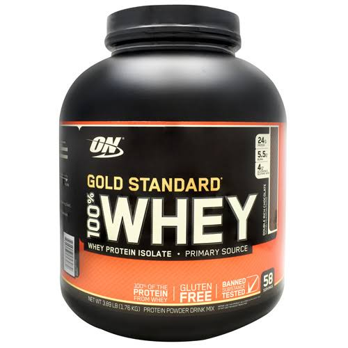 ON Gold Standard Drink Mix, Protein Powder, 100% Whey, Double Rich Chocolate - 3.89 lb